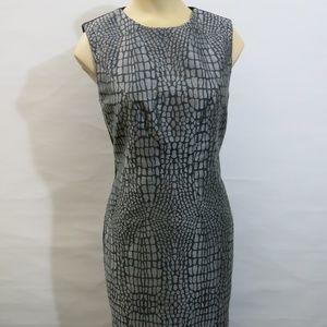 Diane Von Furstenberg Gray Snake Print Dress 6